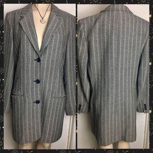 Vintage Women's Sz 8 Bill Burns Wool Blazer Jacket